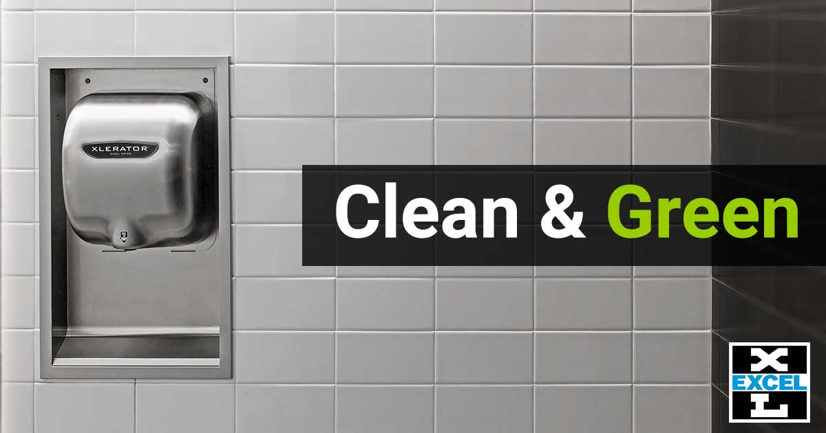 Clean and Green Hygienic Hand Dryer
